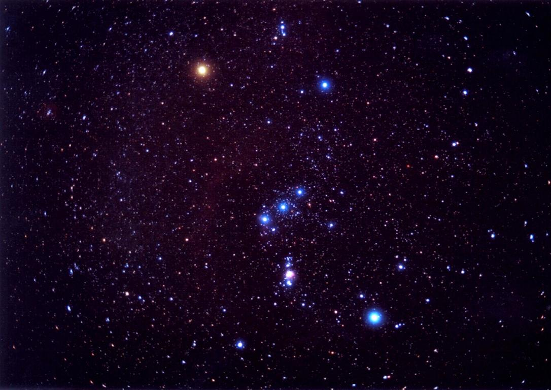 Orion Constellation Star Image View - Orion star map