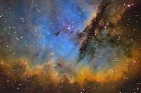 Nebula NGC 281 in Mapped Color
