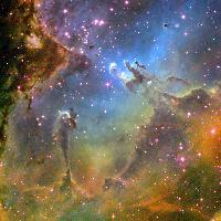 Eagle Nebula, M16, NGC 6611, IC 4703 - Hubble