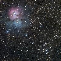 M20 (NGC6514, Trifid Nebula) and M21 (NGC6531)