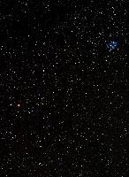 Widefield image of Taurus area and Pleiades (M45)