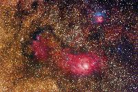 M8 Region (with M20, NGC6559, and more) by Misti Mountain Observatory