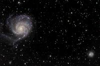 M101 and NGC 5474 by Thomas V. Davis