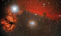 Horsehead and flame nebula by Stargazer Observatory