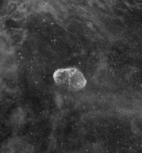 Ha of the Crescent Nebula and Bubble-Like Nebula by by Dr. Mel Helm; July 17, 2008
