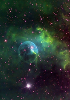 NGC 7635 - The Bubble Nebula in Mapped Colors