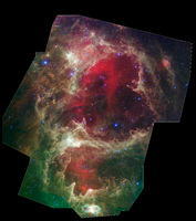 W5 Nebula (Allen) by Spitzer Space Telescope