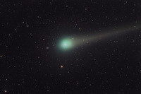 Comet Lulin and Distant Galaxies; 28-Feb-2009; by Johannes Schedler (Panther Observatory)
