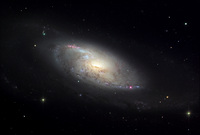 M106 in Canes Venatici  by Bernie and Jay Slotnick, Adam Block, AOP, NOAO, AURA, NSF