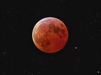 Eclipsed Moon and Stars  by Johannes Schedler (Panther Observatory)