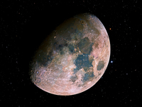 Colorful Moon Mosaic  by Noel Carboni