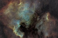 The North America and Pelican Nebulas  by Nicolas Outters (Observatoire d'Orange)