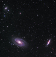 M81, M82, and NGC 3077 in URSA MAJOR by ALLABOUTASTRO.com