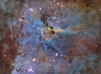 Eta and Keyhole in the Carina Nebula  by Brad Moore