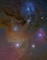 RHO-ANTARES REGION in SCORPIUS - Two Frame Mosaic by ALLABOUTASTRO.com