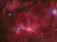 Wisps Surrounding the Horsehead Nebula  by Star Shadows Remote Observatory