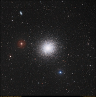 M13: The Great Globular Cluster in Hercules  by Noel Carboni, Digitized Sky Survey