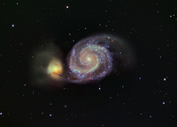 M51 - THE WHIRLPOOL GALAXY in CANES VENATICI by ALLABOUTASTRO.com