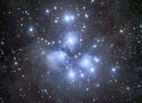 M45 - THE PLEIADES IN TAURUS by ALLABOUTASTRO.com