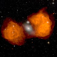The Giant Radio Lobes of Fornax A by Ed Fomalont (NRAO) et al., VLA, NRAO, AUI, NSF