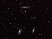 Messier 65, Messier 66 and NGC 3628 by Dean Jacobsen; December 28, 2003