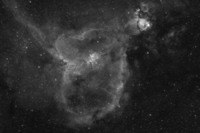 IC1805 - The Valentine Nebula in H-Alpha