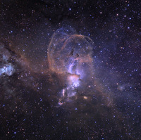 NGC 3576 Nebula by Ken Crawford